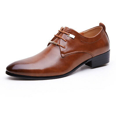 Men's Oxfords Leather Shoes Pointy Business Wedding Dress Formal Casual Comfort