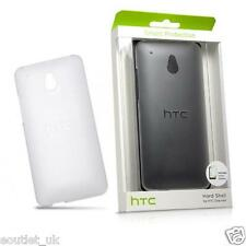 HTC ONE MINI M4 CLEAR TRANSLUCENT HARD SHELL CASE COVER & FILM HC C852 GENUINE