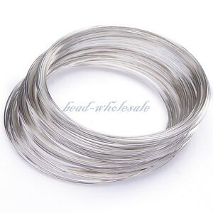 100-300-Loops-Steel-Memory-Wire-DIY-For-Cuff-Bracelet-Bangle-Jewelry-Making