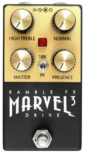 Details about Marvel Drive 3 (BLACK) | Marshall plexi tone | Buy direct  from Ramble FX
