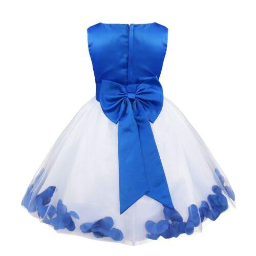 UK Flower Girls Princess Dress Party Wedding Bridesmaid Birthday Holiday Dresses