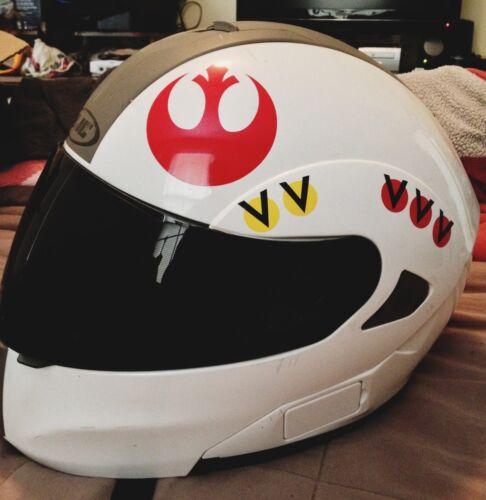 Luke Skywalker REBEL Helmet Decal Sticker Star Wars RED and YELLOW