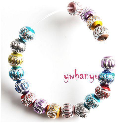 Wholesale 100pcs Bulk Mixed Loose Spacer Beads 7mm Dia For DIY Bracelet Necklace