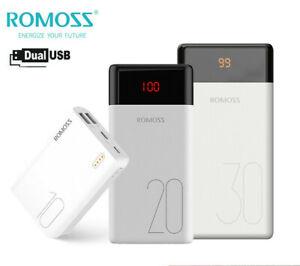 ROMOSS Power Bank Portable External Battery Backup Charger LED for Mobile Phone
