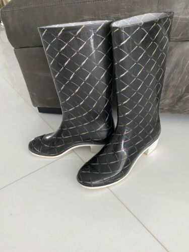 Chanel Rain Boots Size 41 As Is