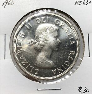 Canada-1960-Silver-One-Dollar-1-CHOICE-UNC