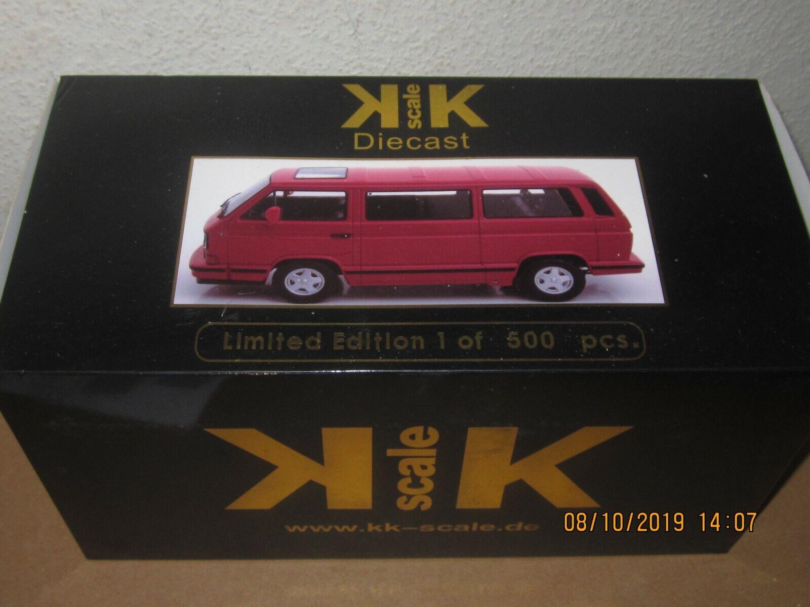 rotstar T3 Multivan Bus VW Volkswagen rot 1 18 KK 1 von 500 stück