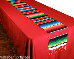 Image Is Loading Authentic Mexican Serape Blanket Table Runner 72 034