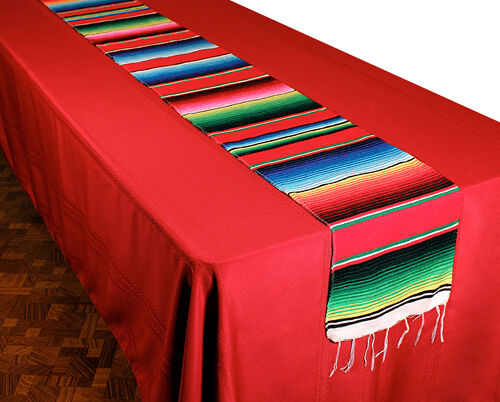"Authentic Mexican Serape Blanket Table Runner 72"" x 16"" Hand Woven SM659 NEW"