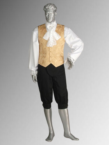 Baroque or Renaissance Style Vest Handmade from Brocade Damask and Satin Lined