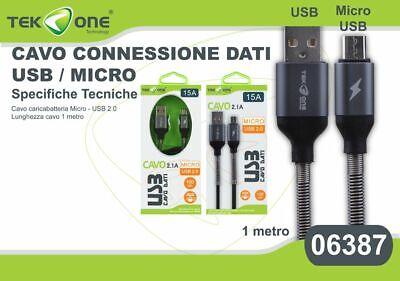 Brioso Cavo Dati Usb Tekone 15a Connettore Microusb Micro Usb 1mt Smartphone Hsb Sapore Fragrante (In)