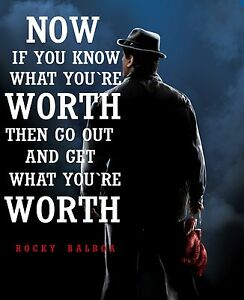 Rocky balboa quotes cool inspirational poster a0 a1 a2 a3 a4 a5 a6 maxi 036 ebay - Rocky wallpaper with quotes ...