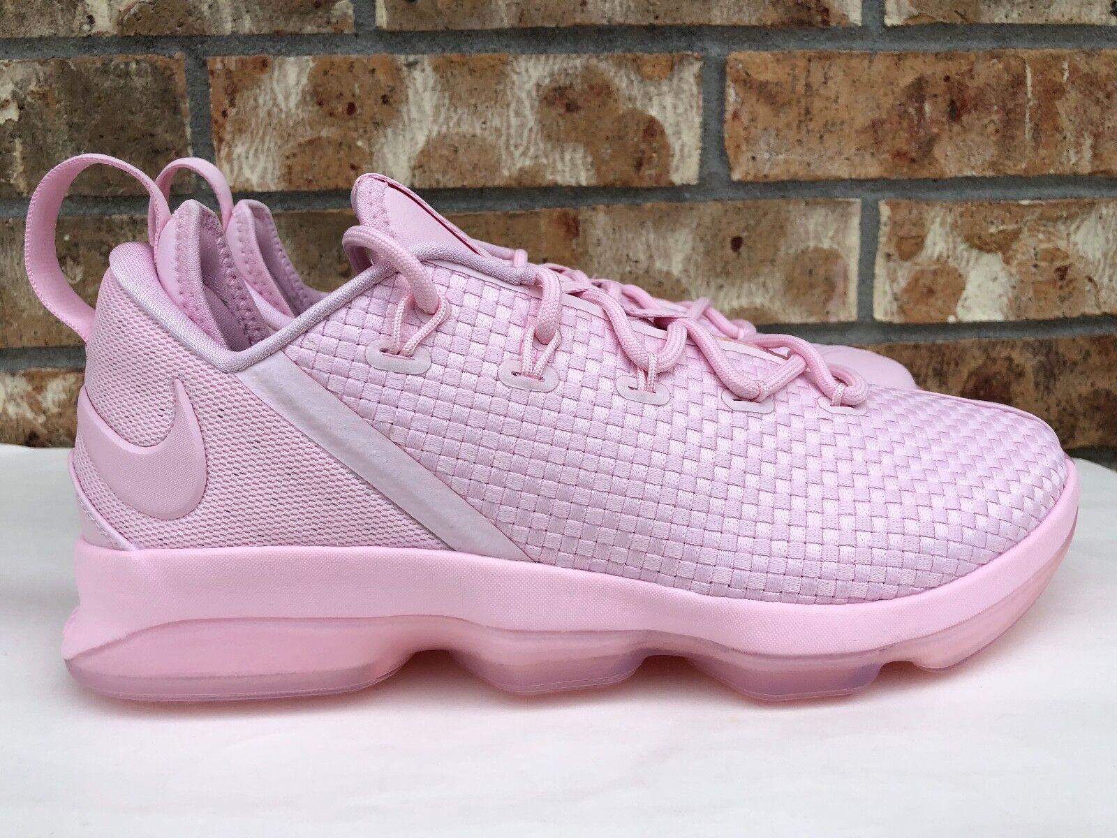 Men's Nike Triple Lebron XIV 14 Lows Basketball Shoes Triple Nike Prism Pink 878636-600 f7267b