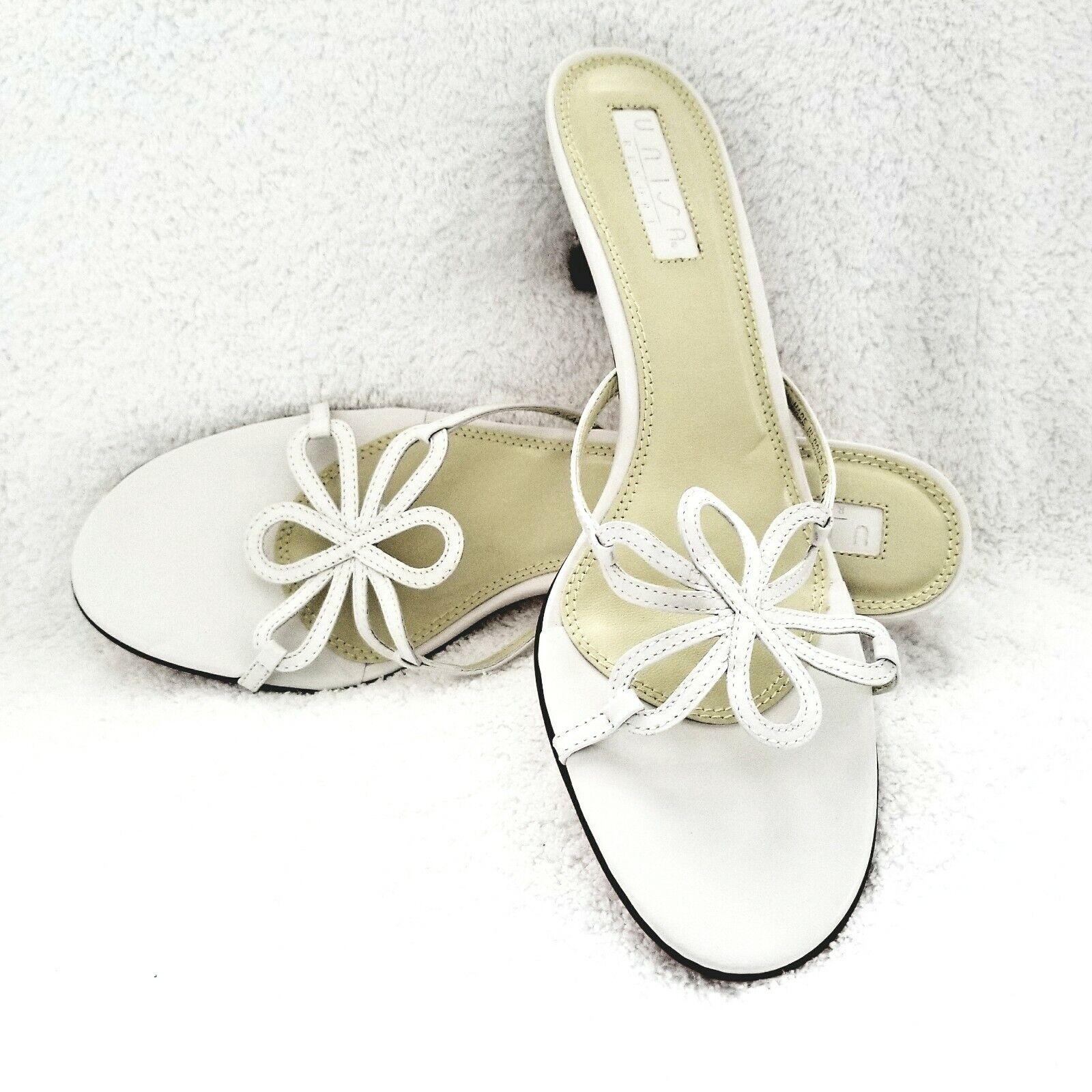 New Unisa Resort Low Heel White Slide Butterfly Butterfly Butterfly Strappy Sandals Round Toe 91 2AA eeffce