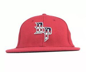 5502053274b2a Bel Passi BP Baseball Logo Red Baseball Cap Hat Flex Fit Men s Sm ...