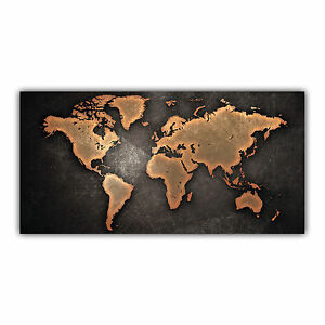 carte du monde tableau poster d coration world map continents mappemonde arimaje ebay. Black Bedroom Furniture Sets. Home Design Ideas