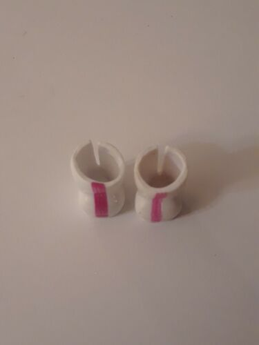 LOL Surprise Doll Accessory Drag Racer White Boots Shoes with Pink Stripe