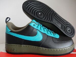 Details about NIKE AIR FORCE 1 LOW PREMIUM ID BLACK TURQUOISE GREEN SZ 12.5 [AJ4757 993]