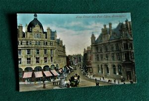 Vintage postcard Birmingham New Street Post Office Valentines