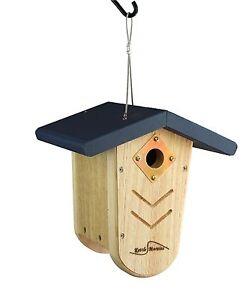 Kettle moraine navy roof nest box wren amp chickadee hanging bird house