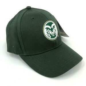 Colorado-State-Rams-Russell-Athletic-Curved-Brim-Hat-Youth-Size-Strapback-Green