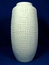 Rare 70´s crocodile skin looking design Kaiser relief porcelain vase 263  28 cm