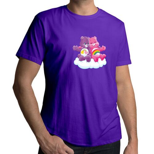 Care Bears Cheer Best Friend Bear Kawaii Cartoon Unisex Mens Tee Crew T-Shirt