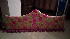 Custom Made Cornice Board 38 3/8inches long princess style green & pink