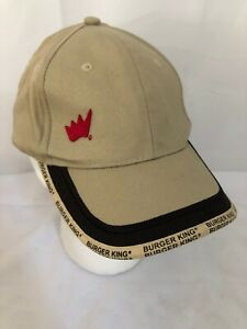 39bcc9b2 Details about Burger King Fast Food Baseball Cap Hat Adjustable Employee  Crew Member Brown