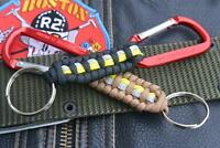 Extreme Firefighter Fire Rescue Bunker Turnout Gear 550 Paracord Keychain