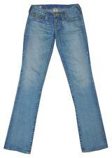 TRUE RELIGION 'Billy' Light Blue Wash Slim Straight Leg Flap Pocket Jeans 25