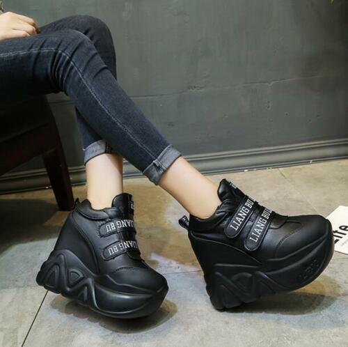 Chaussures femme compensées Sport Baskets Chaussures De Loisirs caché Bottines à talon haut