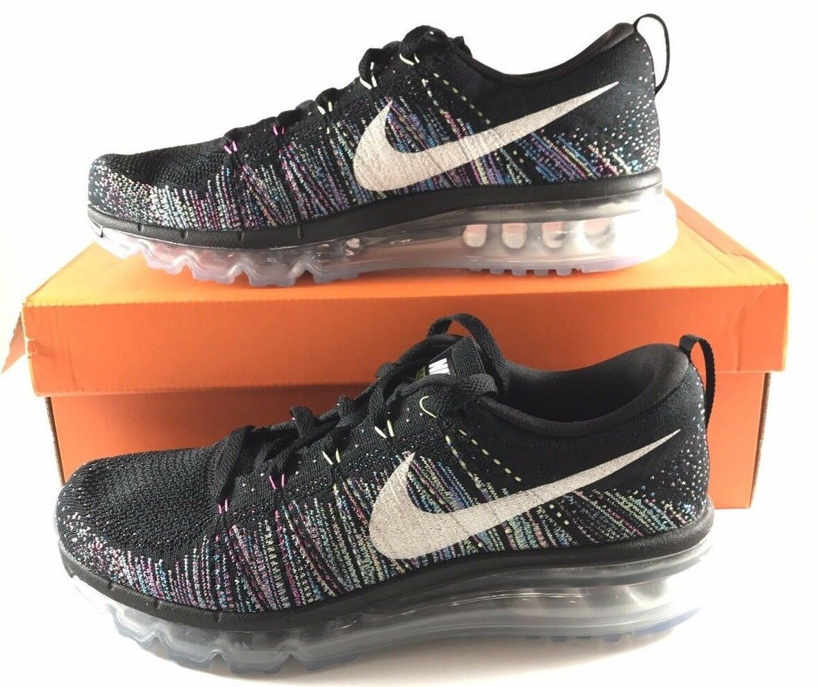 Wmns N i k e Flyknit Max Black Rainbow Women Running Shoes Sneakers 620659-007
