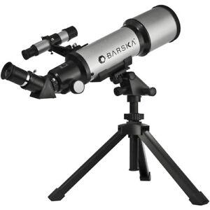 BARSKA-40070-Starwatcher-Refractor-Telescope-w-Case-Tripod-amp-Software-AE10100