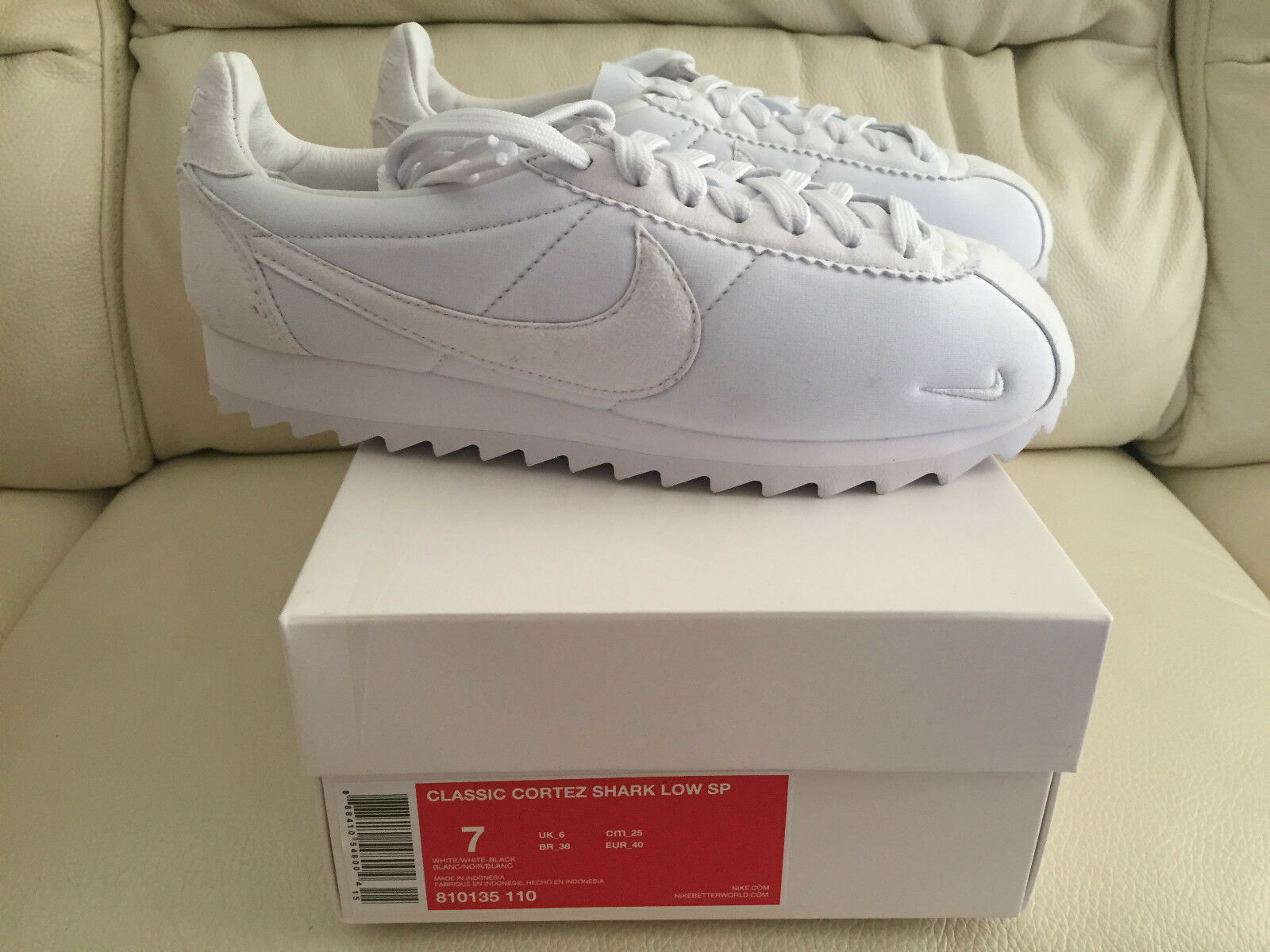 2015 NIKE  NIKELAB CLASSIC CORTEZ SP BIG TOOTH SHARK WHITE SIZES NEW