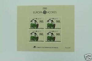 Portugal-ACORES-Europe-CEPT-1988-Bloc-Mi-A9-AF-94-Postfr-XX