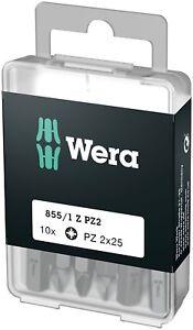 Wera 05072444001 DIY PZ 2 x 25mm Pozidriv Insert Bit 100 Piece
