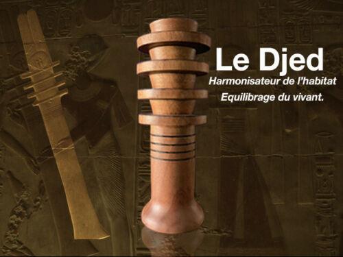 DJED EGYPTIEN EN BOIS avec compartiment interne radiesthésie ésotérisme