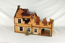 WW2 EUROPE DESTROYED LARGE FARMHOUSE – N020 28mm Laser cut MDF Building & Ter...