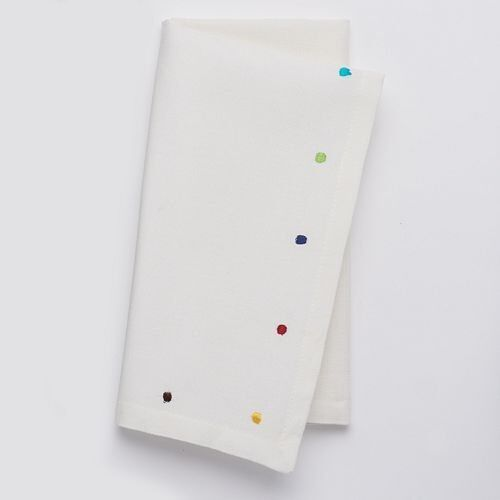 "20/"" x 20/"" 4 pk NEW Food Network Embroidered Dot Napkins FREE 3 DAY SHIPPING"