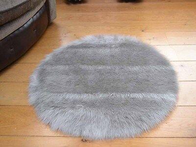 Small Plain Circle Round Circular Circles Soft Fluffy Fake Sheepskin Rugs Cheap