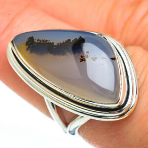 Montana-Agate-925-Sterling-Silver-Ring-Size-7-5-Ana-Co-Jewelry-R45321F
