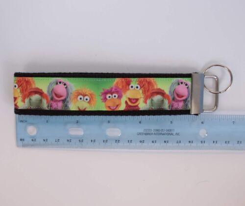 Fraggle Rock Muppets Grosgrain Ribbon Webbing Keychain Wristlet Key Fob
