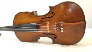 Geige-Violin-Violon-Violino-Alt-Alte-Old-Zettel-Brand-Label-Cremona-3-4