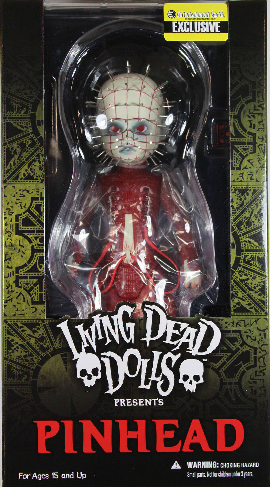 Living Dead Dolls ~ rosso PINHEAD ACTION FIGURE ~ Mezco LDD Exclusive