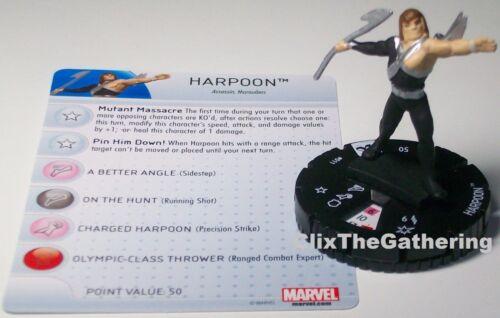 HARPOON 011 Uncanny X-Men Marvel HeroClix