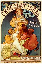1897 Alphonse Mucha Advertising Giclee Canvas Print 20x27 Bleu Deschamps