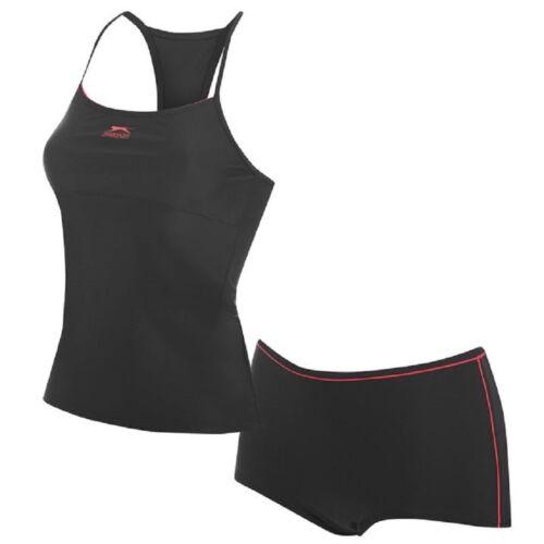 Boy Leg Tankini Ladies SLAZENGER Racing Back Swimwear Bikini Shorts New