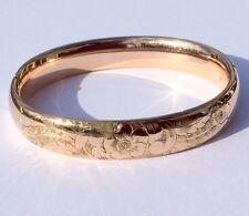 Vintage Large Gold Filled Hinged Bangle Bracelet