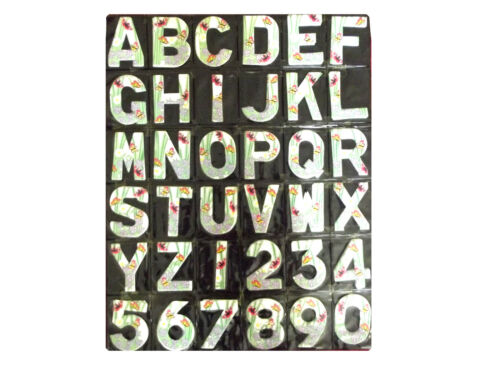 Letters /& Numbers BUTTERFLY Design Wheelie Bin House Name Self Adhesive Sticker